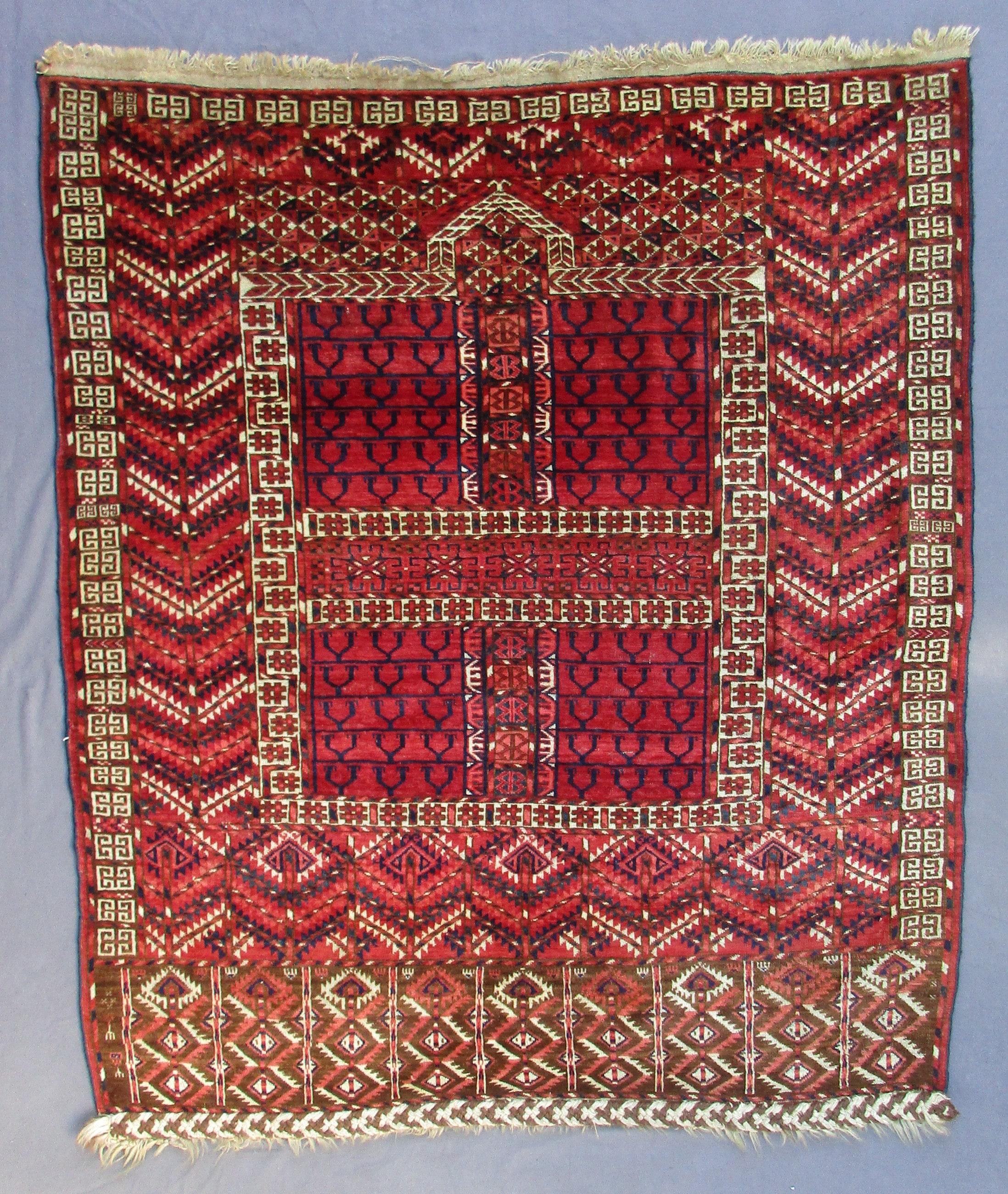 Antique Turkoman Rug: Antique Turkoman Tekke Engsi (tent Door Rug)